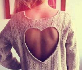 SEXY FASHION HEART-SHAPED SWEATER CS1104CD