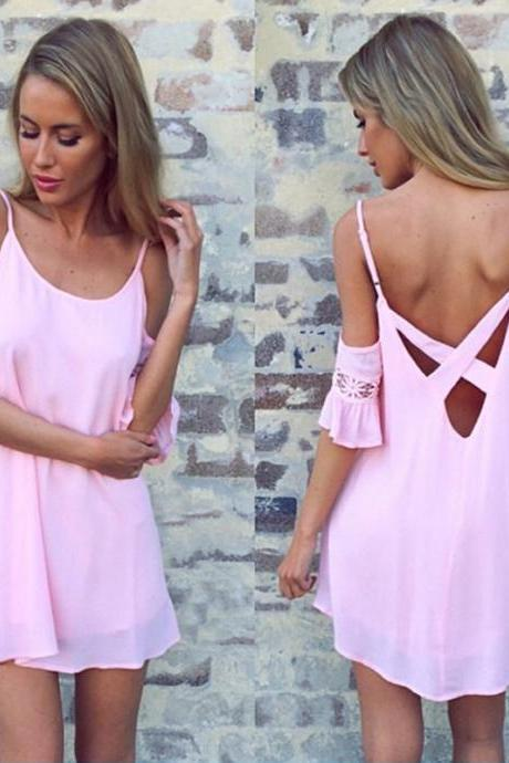 SEXY STRAPLESS PINK DRESS KMY25KL