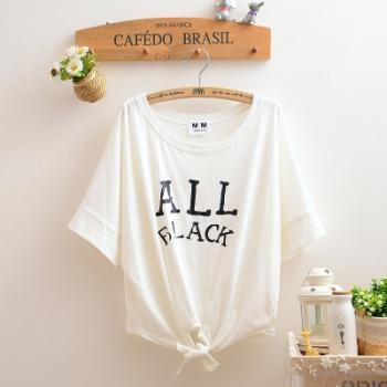 Letters bat sleeve T-shirt blouse MX61235