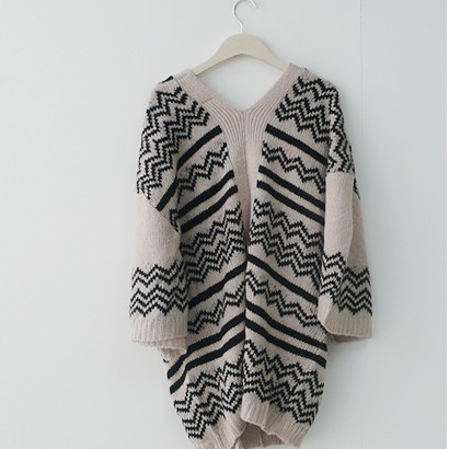 Fashion v-neck loose cardigan coat 1620948